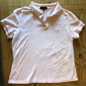 Burberry Blush Pink Polo T-Shirt